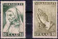 1955 EUROPE - SARRE Y & T  N°347 et 348 NEUFS* AVEC CHARNIÈRE