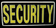 SECURITY MALL POLICE PATROL GUARD PROTECT YELLOW BELT BUCKLE BOUCLE DE CEINTURES