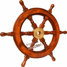 Hub Ship/Boat Steering Wheel Brass Vintage Wood Pirate Fishing Maritime Nautical