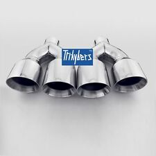 """Quad exhaust tips for Mustang GT 5.0 V8 2015+  2.5"""" inlet 4"""" outlet 12"""" long"""