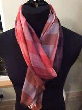 BNWT Designer Paul Smith Lightweight Cashmere Silk blend check scarf RRP £125