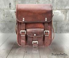 Marrone realizzato a mano stile vintage in pelle borsa a tracolla Messenger TABLET borsa Crossbody