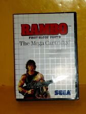 Rambo: First Blood Part II Sega Master SYSTEM GAME AND CASE