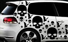 99x Skull Hexe Sterne Star Aufkleber Wandtattoo Hexenkutsche Gothic Halloween