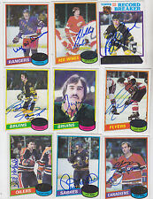 1980-81 TOPPS SIGNED CARD ROGIE VACHON BRUINS CANADIENS KINGS RED WINGS # 110