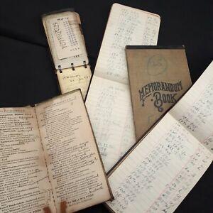Antique ledger notebook diary book Ephemera junk journal vintage paper lot 5