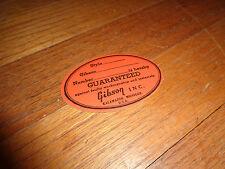 Gibson Orange Label  ES-335  ES-345  ES-355  ES-175