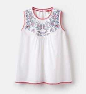 Joules Romella Bright White Sleeveless Top