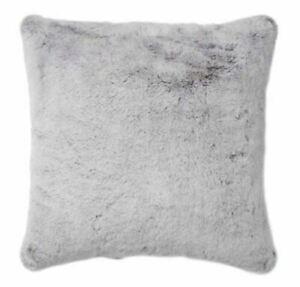 """Tip Gray Faux Fur Pillow 20"""" x 20"""""""