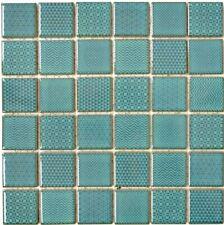 Mosaikfliese Keramik grüntürkis Küche Dusche Bad Fliesenspiegel WB16-0602|1Matte