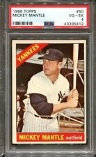 1966 Topps #50 Mickey Mantle PSA 4 HOF New York Yankees