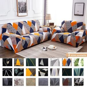 1/2/3 Seater Soft Sofa Couch Covers Floral Elastic Stretch Slipcover Protector
