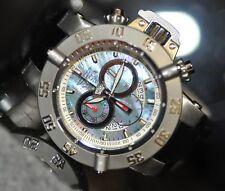 Invicta Mens Rare 4568 Subaqua Noma III Swiss Chrono Blue MOP Dial Leather Watch