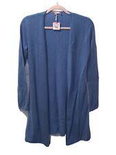 Calypso St. Barth 100% Cashmere Duster Color Aegean (Blue) Size Small MSRP-$295