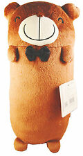 """Choco Teddy 10"""" or 12.5"""" inches Bear Style Bed Hugging and Head Pillow Cushion"""