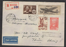 RUSSIE : Enveloppe Recommandé Par Avion de ? 1949 Affrt à 4 timbres  Oblt CàDate