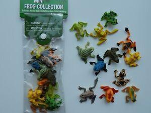12 Mini plastic FROGS!!!! Spring! School!  Educational! Small world! Nature!