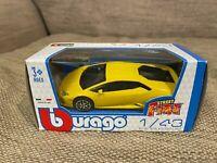 Toy Car Boys Kids   Lamborghini Huracan   Yellow   Street Fire   1:43   Burago
