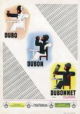 """""""DUBONNET"""" Affiche d'intérieur originale entoilée (Zincographie CASSANDRE 1932)"""