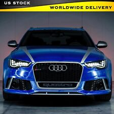 QUATTRO EMBLEM RS STYLE GRILL BADGE FOR AUDI FRONT LOGO DECAL SLINE