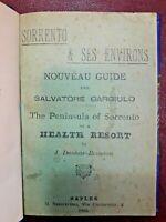 1895 - SORRENTO & SES ENVIRONS. NOUVEAU GUIDE THE PENINSULA OF SORRENTO
