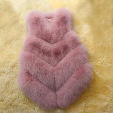 Women's Faux Fur Vest Waistcoat Jacket Coat Winter Warm Outwear Gilet Overcoat