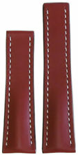 20mm RIOS1931 for Panatime Cognac Calf Leather Watch Band w WS For Breitling Dep