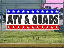 Stars & Stripes ATV & QUADS Banner Sign NEW 2X5