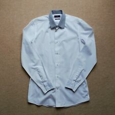 "White Next Contrast Collar Slim Fit Shirt Top (15"")"