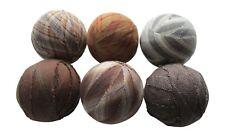 """Primitive Fabric Rag Balls Brown, Greige and Natural Bowl Fillers 2.5"""" diameter"""