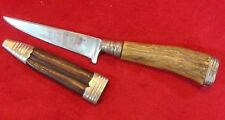 ANTIQUE GERMAN HUNTING KNIFE blade J.KLEBER ROSTFREI (original scabbard)