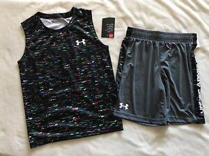 UNDER ARMOUR Little Boys HeatGear Shirt/Shorts 2 piece set - 6