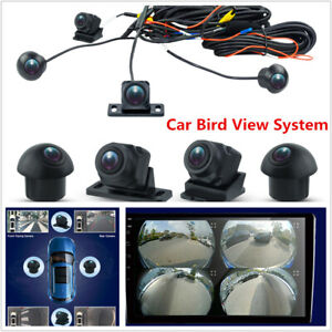 3D 360°Surround View Car Camera Panoramic Front Rear Left Right Cameras GPS