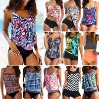 Floral Tankini Women's Push Up Padded Bikini Set Swimsuit Bathing Suit Swimwear