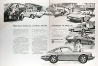 1968 PORSCHE 911 912 TARGA Genuine Vintage 2 Pg. Ad ~ MSRP Starts at $4,950