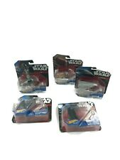 Lot of 5 Die-Cast Star Wars Mini Figure Hot Wheels