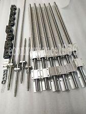 SBR25/20/16 Kit linear rail RM2005-2900/2900/2000/500 &BK/BF15 &4 couplers