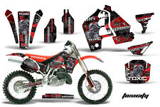 Honda CR500 With # Plate Graphics Kit Dirt Bike Wrap MX Decals 1989-2001 TOXIC R