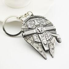 Star Wars Vaisseau Faucon Millenium Argent Métal Keychain Porte-clés Cadeau Nuef