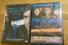 Lot of 2 Jude Law Dvd's. Movies Cold Mountain & Sleuth Brand New Sealed