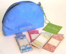 Vera Bradley Preppy Poly Mini Sky Bue Cosmetic Bag Plus++ Sample lotions s8-pb5
