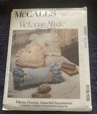 Uncut McCalls Pattern 0010 Victorian Magic Square Heart Pillow Frame Lace Basket