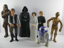 Star Wars Action Figures Vinyl Out Of Character & Suncoast Picture Set of 7 Rare