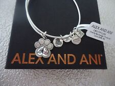 Alex and Ani  PRINTS OF LOVE II Rafaelian Silver Bangle New W/ Tag Card & Box