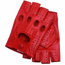 Fingerless 100% Genuine Leather Driving Gloves Chauffer Swift wears
