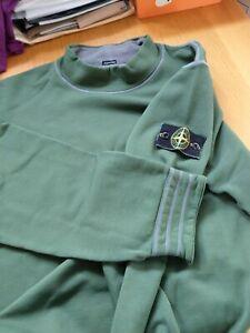 Stone Island Vintage sweat shirt, early Osti green edge. XL