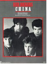 "THE RED ROCKERS ""CHINA"" SHEET MUSIC-PIANO/VOCAL/GUITAR/CHORDS-1983-NEW ON SALE!!"