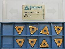 8 Pièces Plaquettes de Coupe Plaquettes Dümmel DED.0602.24-D CN4,Neuf