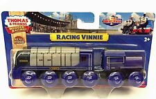 Thomas Tank Engine WOODEN Railway RACING VINNIE - Brand NEW in Packaging