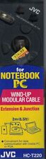 JVC Wind-Up Modular Cable for Notebook PC Extension & Junction HC-T220 New